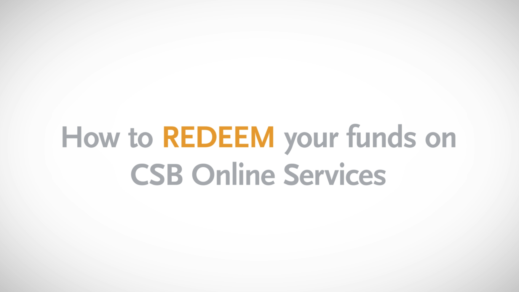 how to redeem funds online