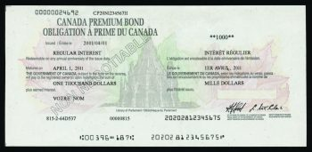 Sample image of CPB bond certificate.