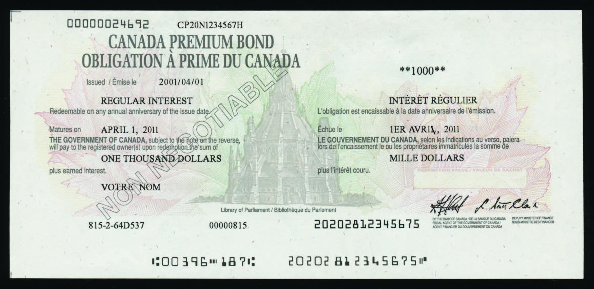 Certificated Bonds - Canada Savings Bonds